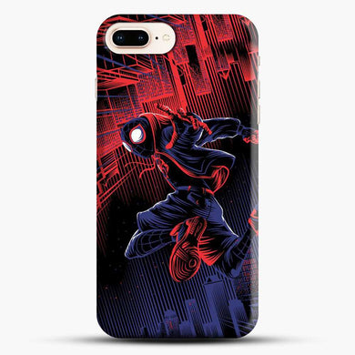 Miles Morales Jump Spider Verse iPhone 7 Plus Case, Black Snap 3D Case | JoeYellow.com