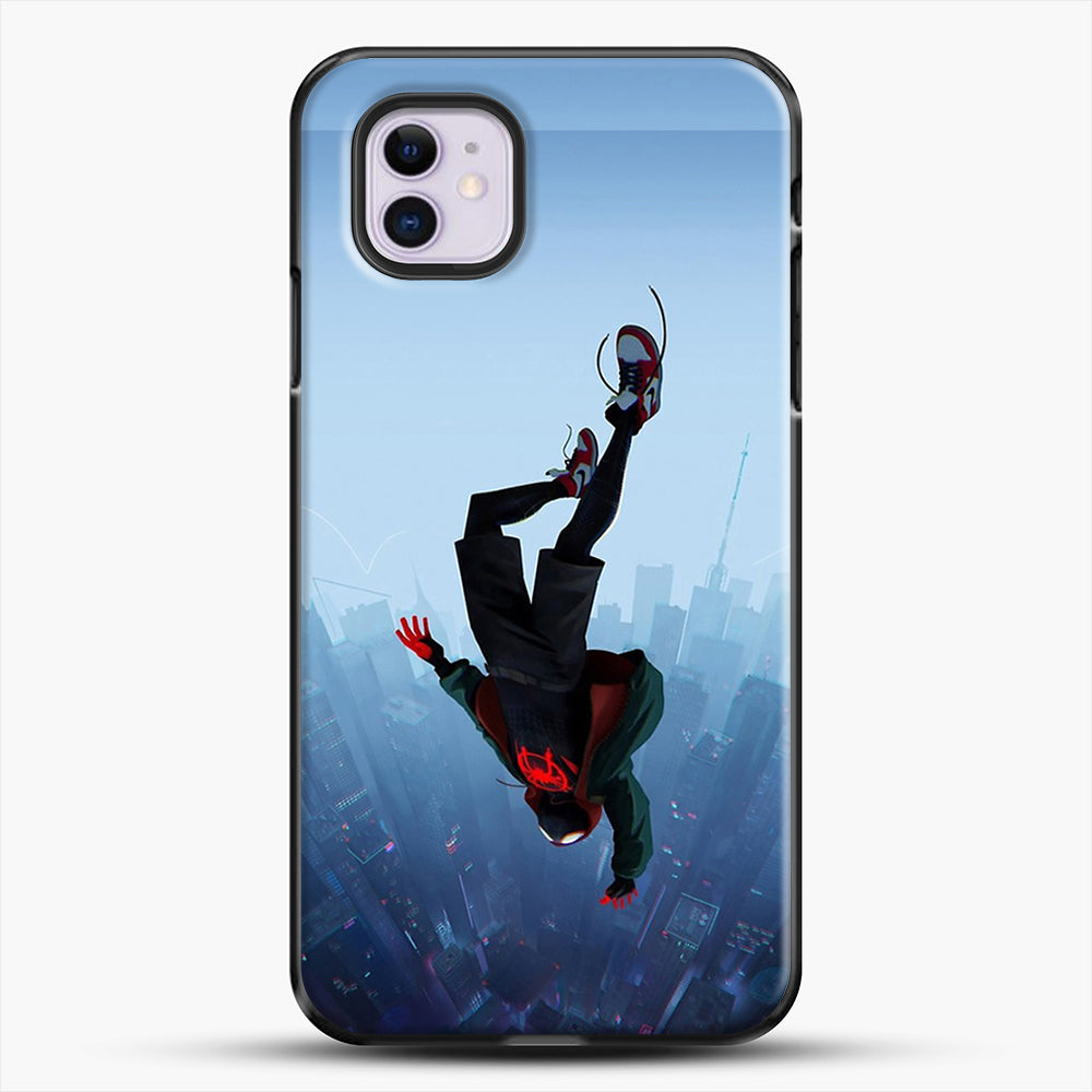 Miles Morales Jump iPhone 11 Case, Black Plastic Case | JoeYellow.com