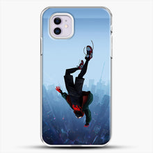 Load image into Gallery viewer, Miles Morales Jump iPhone 11 Case, White Plastic Case | JoeYellow.com