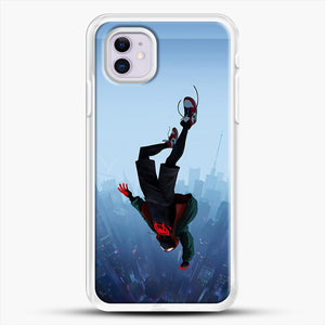 Miles Morales Jump iPhone 11 Case, White Rubber Case | JoeYellow.com