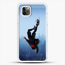 Load image into Gallery viewer, Miles Morales Jump iPhone 11 Pro Max Case, White Rubber Case | JoeYellow.com