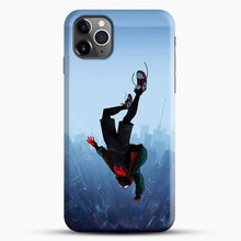 Load image into Gallery viewer, Miles Morales Jump iPhone 11 Pro Max Case, Black Snap 3D Case | JoeYellow.com