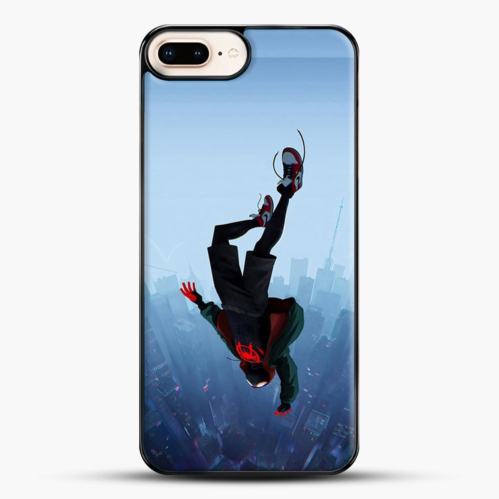 Miles Morales Jump iPhone 7 Plus Case, Black Plastic Case | JoeYellow.com