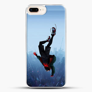 Miles Morales Jump iPhone 7 Plus Case, White Plastic Case | JoeYellow.com
