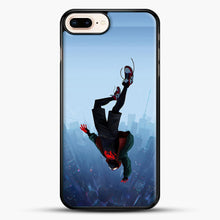 Load image into Gallery viewer, Miles Morales Jump iPhone 7 Plus Case, Black Rubber Case | JoeYellow.com