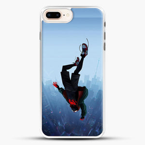 Miles Morales Jump iPhone 7 Plus Case, White Rubber Case | JoeYellow.com