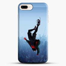 Load image into Gallery viewer, Miles Morales Jump iPhone 7 Plus Case, Black Snap 3D Case | JoeYellow.com