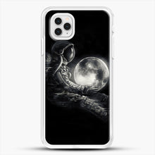 Load image into Gallery viewer, Moon Play iPhone 11 Pro Case, White Rubber Case | JoeYellow.com
