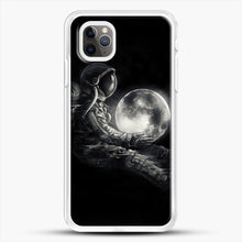 Load image into Gallery viewer, Moon Play iPhone 11 Pro Max Case, White Rubber Case | JoeYellow.com