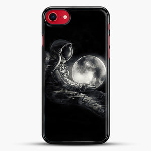 Moon Play iPhone 8 Case, Black Rubber Case | JoeYellow.com