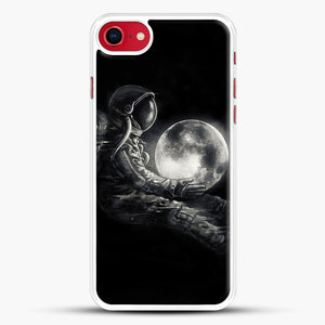 Moon Play iPhone 8 Case, White Rubber Case | JoeYellow.com