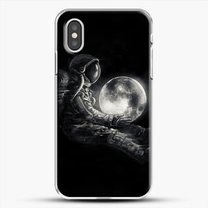 Moon Play iPhone XS Case, White Plastic Case | JoeYellow.com
