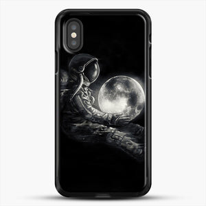 Moon Play iPhone XS Case, Black Rubber Case | JoeYellow.com