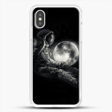 Load image into Gallery viewer, Moon Play iPhone XS Case, White Rubber Case | JoeYellow.com