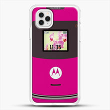 Load image into Gallery viewer, Motorola Razr iPhone 11 Pro Case, White Rubber Case | JoeYellow.com