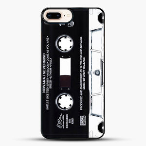 Music Tape Cover Nirvana Grunge iPhone 8 Plus Case, Black Plastic Case | JoeYellow.com