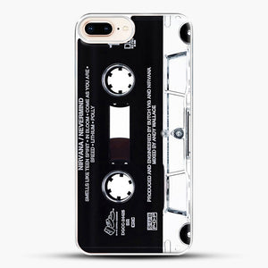 Music Tape Cover Nirvana Grunge iPhone 8 Plus Case, White Plastic Case | JoeYellow.com