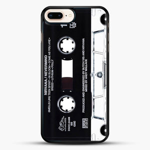 Music Tape Cover Nirvana Grunge iPhone 8 Plus Case, Black Rubber Case | JoeYellow.com
