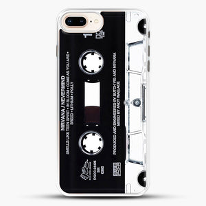Music Tape Cover Nirvana Grunge iPhone 8 Plus Case, White Rubber Case | JoeYellow.com
