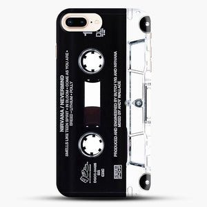 Music Tape Cover Nirvana Grunge iPhone 8 Plus Case, Black Snap 3D Case | JoeYellow.com