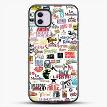 Load image into Gallery viewer, Musical Logos Cases Duvets Books Clothes Etc iPhone 11 Case, Black Plastic Case | JoeYellow.com