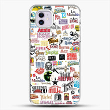Load image into Gallery viewer, Musical Logos Cases Duvets Books Clothes Etc iPhone 11 Case, White Plastic Case | JoeYellow.com