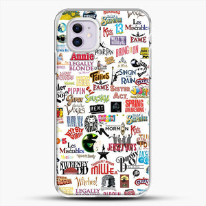 Musical Logos Cases Duvets Books Clothes Etc iPhone 11 Case, White Plastic Case | JoeYellow.com