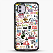 Load image into Gallery viewer, Musical Logos Cases Duvets Books Clothes Etc iPhone 11 Case, Black Rubber Case | JoeYellow.com