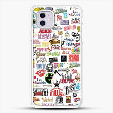 Load image into Gallery viewer, Musical Logos Cases Duvets Books Clothes Etc iPhone 11 Case, White Rubber Case | JoeYellow.com