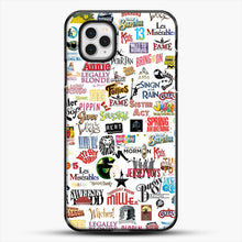 Load image into Gallery viewer, Musical Logos Cases Duvets Books Clothes Etc iPhone 11 Pro Case, Black Plastic Case | JoeYellow.com