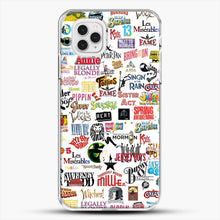 Load image into Gallery viewer, Musical Logos Cases Duvets Books Clothes Etc iPhone 11 Pro Case, White Plastic Case | JoeYellow.com