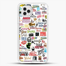 Load image into Gallery viewer, Musical Logos Cases Duvets Books Clothes Etc iPhone 11 Pro Case, White Rubber Case | JoeYellow.com