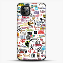 Load image into Gallery viewer, Musical Logos Cases Duvets Books Clothes Etc iPhone 11 Pro Max Case, Black Plastic Case | JoeYellow.com
