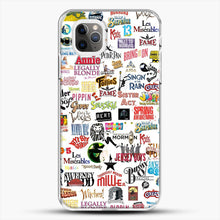 Load image into Gallery viewer, Musical Logos Cases Duvets Books Clothes Etc iPhone 11 Pro Max Case, White Plastic Case | JoeYellow.com