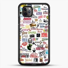 Load image into Gallery viewer, Musical Logos Cases Duvets Books Clothes Etc iPhone 11 Pro Max Case, Black Rubber Case | JoeYellow.com