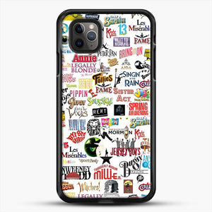 Musical Logos Cases Duvets Books Clothes Etc iPhone 11 Pro Max Case, Black Rubber Case | JoeYellow.com