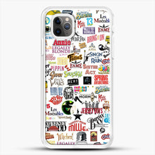 Load image into Gallery viewer, Musical Logos Cases Duvets Books Clothes Etc iPhone 11 Pro Max Case, White Rubber Case | JoeYellow.com
