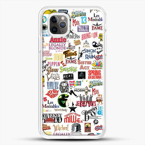 Musical Logos Cases Duvets Books Clothes Etc iPhone 11 Pro Max Case, White Rubber Case | JoeYellow.com