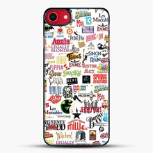 Load image into Gallery viewer, Musical Logos Cases Duvets Books Clothes Etc iPhone 7 Case, Black Plastic Case | JoeYellow.com