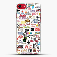 Load image into Gallery viewer, Musical Logos Cases Duvets Books Clothes Etc iPhone 7 Case, White Plastic Case | JoeYellow.com
