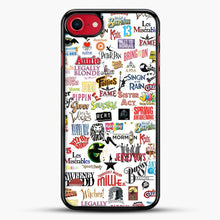 Load image into Gallery viewer, Musical Logos Cases Duvets Books Clothes Etc iPhone 7 Case, Black Rubber Case | JoeYellow.com