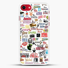 Load image into Gallery viewer, Musical Logos Cases Duvets Books Clothes Etc iPhone 7 Case, White Rubber Case | JoeYellow.com