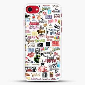 Musical Logos Cases Duvets Books Clothes Etc iPhone 7 Case, White Rubber Case | JoeYellow.com