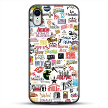 Load image into Gallery viewer, Musical Logos Cases Duvets Books Clothes Etc iPhone XR Case, Black Plastic Case | JoeYellow.com