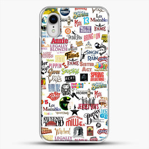 Musical Logos Cases Duvets Books Clothes Etc iPhone XR Case, White Plastic Case | JoeYellow.com