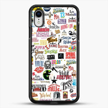 Load image into Gallery viewer, Musical Logos Cases Duvets Books Clothes Etc iPhone XR Case, Black Rubber Case | JoeYellow.com