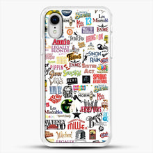 Load image into Gallery viewer, Musical Logos Cases Duvets Books Clothes Etc iPhone XR Case, White Rubber Case | JoeYellow.com