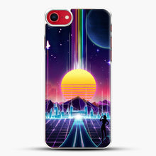 Load image into Gallery viewer, Neon Sunrise iPhone 8 Case, White Plastic Case | JoeYellow.com