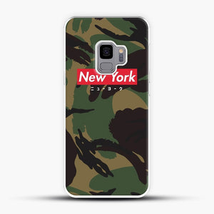 New York logo with Japanese script camo version Samsung Galaxy S9 Case