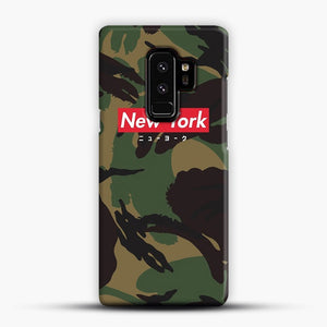 New York logo with Japanese script camo version Samsung Galaxy S9 Plus Case